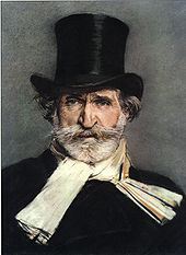 "Portrait of Giuseppe Verdi –The portrait by Giovanni Boldini, 1886, according to Wikipedia, ""was the main inspiration of Luchino Visconti in creating the character played by Burt Lancaster in his film Il Gattopardo."""