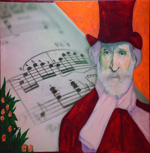 Feature Artist – Tony Van Lent painting of Verdi